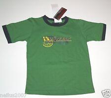 Bnwt Designer VIPER RAGAZZI RACING GREEN Manica Corta T-Shirt Top Logo 6 anni