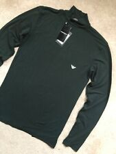 EMPORIO ARMANI UNDERWEAR GREEN COMPRESSION TOP SHIRT SWEATER  - S & M - NEW TAGS