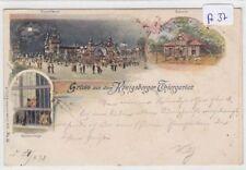 934, Königsberg MB Litho Tiergarten mit Bärenzwinger gelaufen 1898 selten !