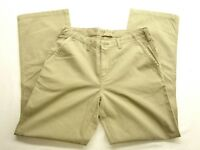 North Face Womens A5 Series Active Hiking Camping Pants Khaki Button Sz 28 X 31