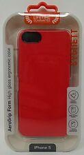 Cygnett iPhone 5 AeroGrip Form High Gloss Ergonomic Case Red Screen Saver New