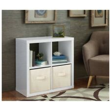 Better Homes and Gardens 4 Cube Square Organizer Storage High Gloss White