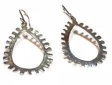 Vintage & Unique Ladies Sterling Silver Track Design Earrings