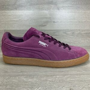 Puma Mens Shoes Suede Classic 360747 04 Purple LowTop Skate Sneakers Size 12 US
