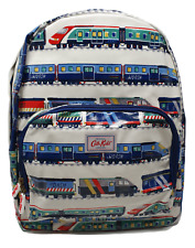 Cath Kidston Backpack Rucksack Kids Large Fast Trains on Oilcloth