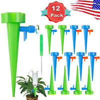 12PCS Automatic Watering Plant Self Spikes Adjustable Stakes Irrigation System