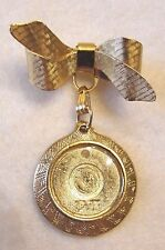 Picture Fob - Euc Women's Goldtone Bow Pin with