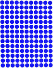 Royal Green Small Dots Colors Circles Stickers 3/8 Inch Round 10mm Labels