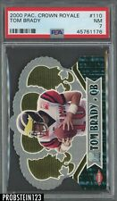 2000 Pacific Crown Royale Die-Cut Tom Brady New England Patriots RC Rookie PSA 7