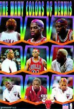 """1997 Dennis Rodman""""The Many Colors of Dennis""""Chicago Bulls Starline Poster OOP"""