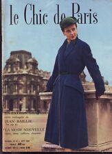 LE CHIC DE PARIS   SEPTEMBRE 1951  N° 12  */*