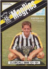 Football Programme>NOTTS COUNTY v EXETER CITY Sept 1990 FLC