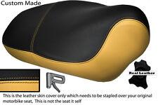 CREAM & BLACK CUSTOM FITS APRILIA MOJITO HABANA 50 125 DUAL LEATHER SEAT COVER