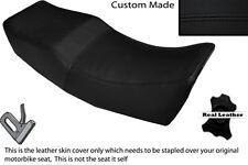 BLACK STITCH CUSTOM FITS HONDA VT 500 E 84-89 DUAL LEATHER SEAT COVER