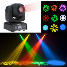 4IN1 30W Mini LED Spot Moving Head Effect Stage Lights DMX 8 Gobos Auto Modes UK