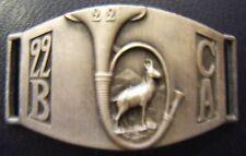 22° BCA Guerre 1939 Forteresse Gourmette de Chasseurs Alpins Original WWII