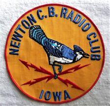"New listing Vintage C.B. Radio Club, Newton,Iowa Ia Blue Jay Bird Large 8"" Patch, Never Used"