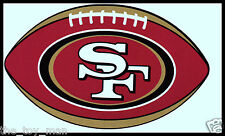 SAN FRANCISCO 49ERS OVAL FOOTBALL NFL LICENSED TEAM LOGO INDOOR DECAL STICKER