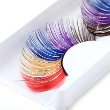 Fancy Beauty False Feather Eyelashes Colorful Glitter Makeup Eye Lash Prty Long