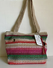 NEW! THE SAK RIVIERA LALA STRIPE HAND-CROCHETED TOTE SHOULDER BAG PURSE $69 SALE