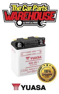 6N6-3B-1 Genuine Yuasa Motorcycle ATV Quad Buggy Battery Xx WITH ACID  xX