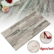 6Pcs Waterproof Wood Pattern PVC Tile Self Adhesive Vinyl Floor Sticker 60x30cm