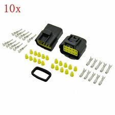 5x 10 Pin Way Waterproof Electrical Connector Wire Plug Terminal Sockets 1.8mm