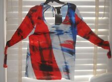 NWT Nathalie Chaize France ~ Art to Wear ~ Tee Shirt France Bleu/Bl/Rouge ~ 48