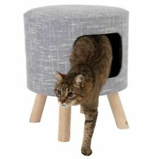 Modern Cat Stool Den Hideaway Removable Plush Cushion Padded Best Quality Seat