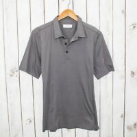 EVERLANE Men's Short Sleeve Polo Shirt Gray Cotton Size Large