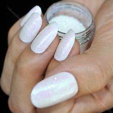Sparkle Transparent White Nail Art Glitter DIY Manicure Small Sequins Powder N50