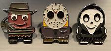 Amazon Peccy Freddy Jason Ghost Face Halloween Horror Collector Enamel Pin SET