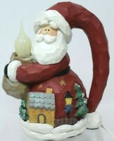 CMI/Henton Light Up Santa, Primitive, Country Christmas Nite Lite Cord EUC #D13