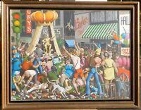Mel Wiken, b 1944 Louisiana, oil/canvas 36 x 48 dated 1974
