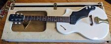 NATIONAL SUPRO AIRLINE VTG GUITAR 50S 7214 Case NO AMP White Electric Guitar VTG