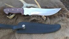 Large Hand Made Bowie Knife, 1095 High Carbon Steel Blade