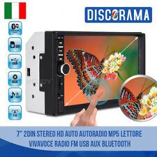 "7"" 2DIN STEREO HD AUTO AUTORADIO MP5 LETTORE VIVAVOCE RADIO FM USB AUX BLUETOOTH"