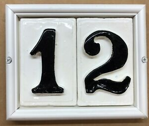 Tile Address Compact Plaque.  Applewood Pottery Frame. 3D tiles. American made