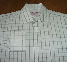 Cotton Check Thomas Pink Regular Formal Shirts for Men
