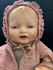 "Beautiful 16"" Vintage Effanbee composition Bubbles baby doll orig gown plus"