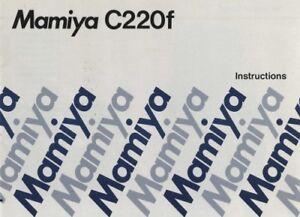 Mamiya C220f Instruction Manual Original