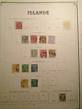 1873-1901 LOT ICELAND ISLAND ISLANDE VF USED VF MLH B36.40 START 0.99$