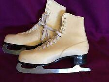 White Women Figure Ice Skates Imperial Blade 39 9 New