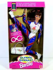 NIB BARBIE DOLL 1995 OLYMPIC GYMNAST BRUNETTE