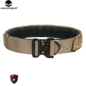 "Emerson Tactical D-Ring Buckle Rigger Belt 1.75""&2"" Inner Outer Combat Duty Belt"