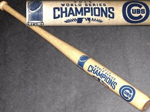 "CHICAGO CUBS 2016 WORLD SERIES CHAMPIONS~NEW 18"" MINI SOUVENIR WOOD BASEBALL BAT"