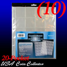 (10) Guardhouse Shiled 20 Pocket Archival Binder Pages - 2x2 Squares - Notebook