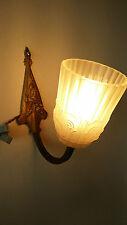 COPPIA di eccezionale Francese Art Deco Candelabro da Parete Luce