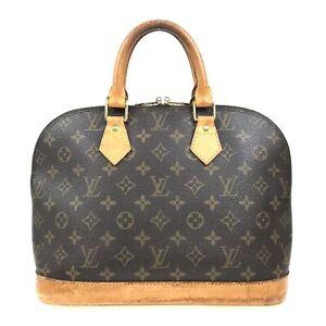 100% Authentic Louis Vuitton Monogram Alma Handbag M51130 [Used] {09-094B}