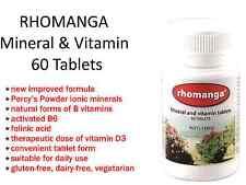 Percys RHOMANGA Mineral & Vitamin 60 tablets ( NEW improved formula ) PERCY'S